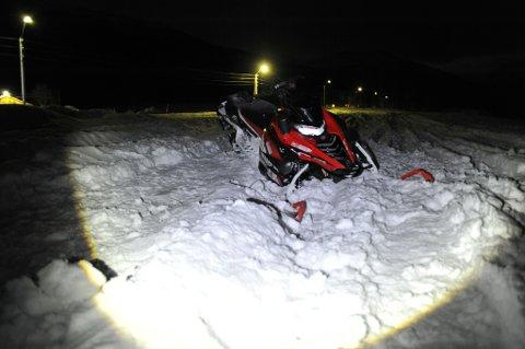 Scooter-ulykken ble meldt om til nødetatene fredag ettermiddag.