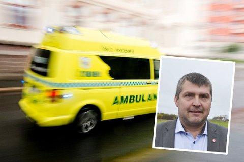 I SAMME BIL: Bengt Rune Strifeldt forventer at Finnmarkssykehuset lar pasientene ligge i samme bil hele veien fram til sykehuset.