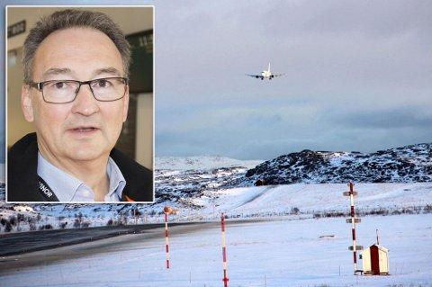 300 METER: Det planlegges å forlenge rullebanen 300 meter østover, forteller lufthavnsjef Rell Erling Kjølås.