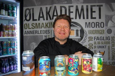 MANGE MULIGHETER: Jørn Tore Persen ser det som et samfunnsoppdrag å få folk til å forstå at det finnes mer godt øl enn pilsen i nærmeste tappetårn.