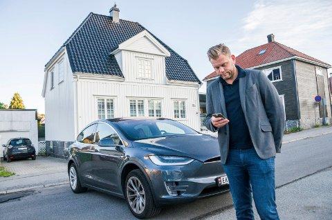 Henlagt: Politiet valgte å henlegge anmeldelsen mot mannen som tyvlånte Teslaen til Ole Martin Holthe. Foto: Lasse Nordheim