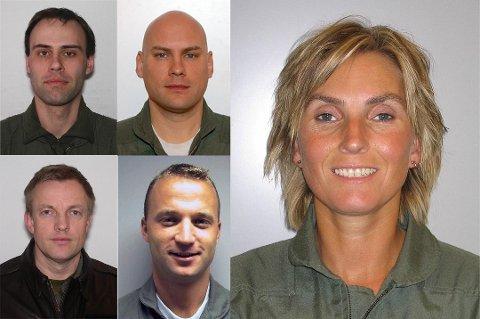 OMKOM I STYRTEN: Tromsøkvinnen Siw Robertsen, Bjørn Yngvar Haug (oppe t.v.), Steinar Utne (oppe), Truls Audun Ørpen (nede t.v.), Ståle Garberg) omkom i Kebnekaise-ulykka i 2012.