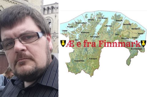 FRA FINNMARK!: Det er beskjeden som deles på sosiale medier av flere nå, som også Tommy Andersen har som sitt bakgrunnsbilde på sin profil.