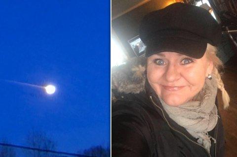 I ALLE DAGER: Trine så det hun mistenkte var en meteor på himmelen, fredag ettermiddag. Mange andre så det samme i Hammerfest og andre steder. Bildet av fenomenet er fra en video Norsk meteornettverk har mottatt.