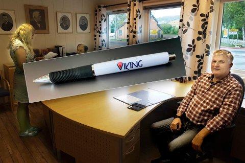 """""""VERDENS DYRESTE PENN"""": Det mener iallefall Ola Giæver. Han sier penna er den eneste fysiske tingen han har igjen etter Fly Viking-konkursen, og at den dermed har kostet ham over 40 millioner kroner."""