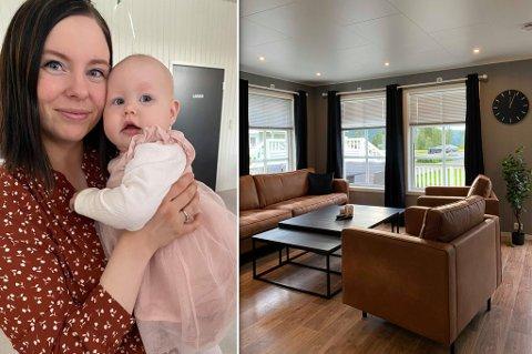 MÅTTE HA STØRRE BOLIG: - Det var egentlig derfor vi trengte nytt og større hus, fordi Nora ble født, sier Trine Kjellmann Losoa.