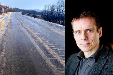 TAR DET OPP: - Vi har bedt om forsterket vinterdrift på områder vi vet er problematisk. Uten at de imøtekommer oss på det, sier regionsjef Odd-Hugo Pedersen.