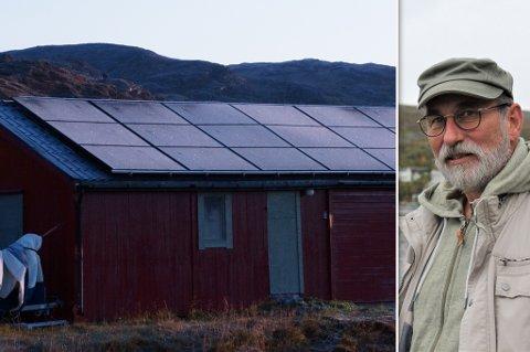 FØRST UT: Lars Bjørn Mehus var først ut med solcelleanlegg, som registrert i Hammerfest kommune.