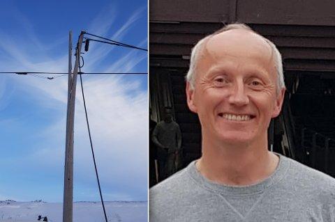 I MARS: Knut Kristiansen oppdaget denne skaden i mars i Porsanger.