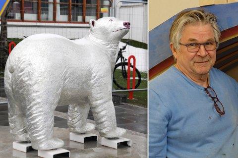 KJENT VERK: Knut Arnesen står bak Isbjørnportalen, som er så godt som et obligatorisk fotomotiv for turister og besøkende i Hammerfest.