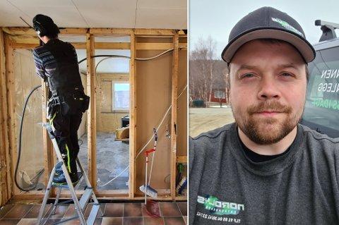 NOK Å GJØRE: Oppdragene øker på for bedriften. Her ser du daglig leder Ron Hugo Johansen.