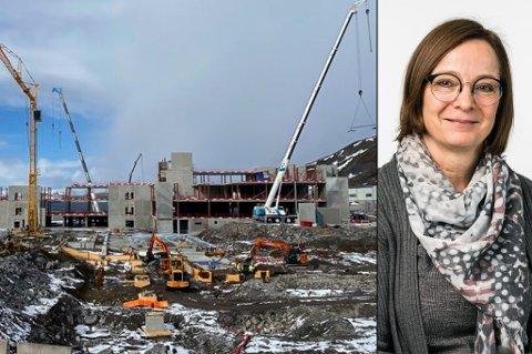 NYTT SYKEHUS: Et nytt sykehus er i ferd med å reise seg. Administrerende direktør for Finnmarkssykehuset sier at de snart går i gang med intervjurunder for å finne den nye prosjektlederen.