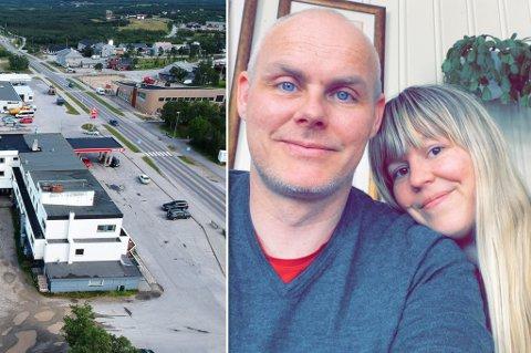 I SENTRUM: Marianne Nygård og samboeren Tony skal drive butikk i Lakselv.