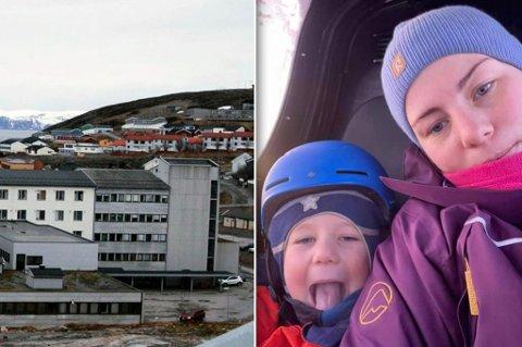 TAKKER: Marianne takker barneavdelinga på Hammerfest sykehus, hvor hun har vært innom flere ganger med sønnen.