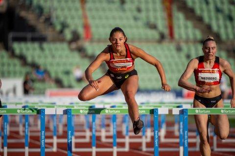 BESTE JUNIOR: Elea Jørstad Bock var beste junior da hun vant sitt heat under helgens kveldsstevne på Bislett.