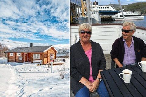 SELGER: Samborne Bodil Kristine Johansen og Thor Dahl selger hytta for å ha mindre å vedlikeholde, og å ta livet mer med ro i Hammerfest.