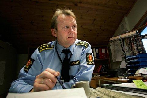 STILLE OG ROLIG: Morten Hole i Harstad-politiet har nesten ikke opplevd lignende.