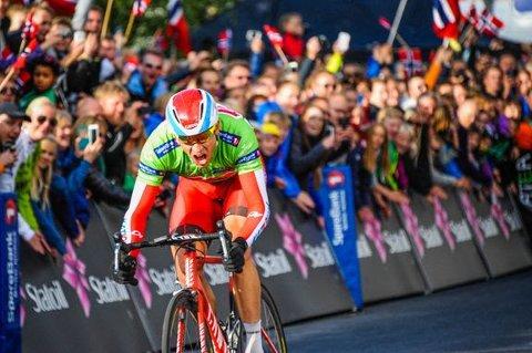 Alexander Kristoff vinner 4. etappe av Arctic Race of Norway i Tromsø i 2014.