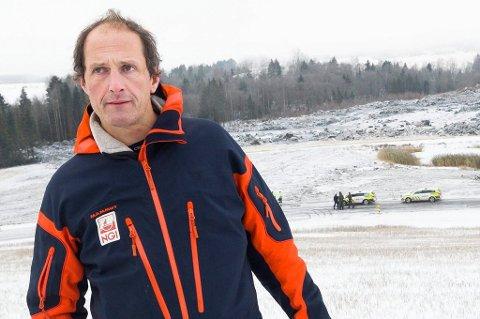 Geotekniker Håkon Heyerdahl i Norges geotekniske institutt.