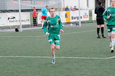 MÅLSCORER: Anders Presterud kom på scoringslista da AFSK spilte 3-3 mot SIF i dag. Foto: Anita Jacobsen