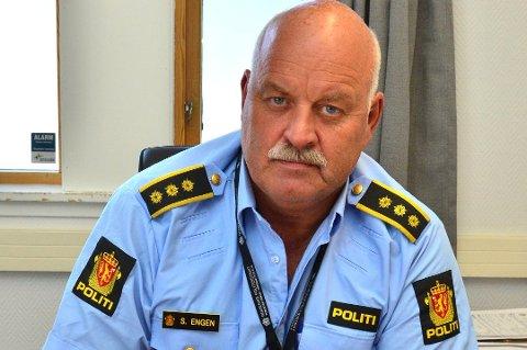 229 SØKERE: Lensmann Svein Engen har fått 229 søknader på en vikariatstilling som politibetjent ved Aurskog-Høland lensmannskontor.