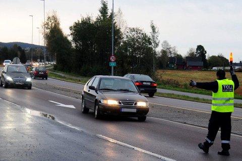 Dette bildet er fra Åkrenesletta på riksvei 22, men er tatt ved en tidligere kontroll.