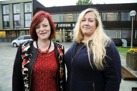 Bytter roller: Mona Granbakken Mangen (t.v.) har trukket seg som gruppeleder for Sørum Ap. Heidi Westbye Nyhus tar over vervet.