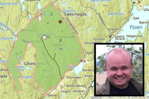 Skogeier: Stian Udnes fra Hvam har kjøpt sletner-skogen i Aurskog.