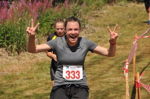 SLIT, MEN MORO: Marianne Johansen fra Romerike ultraløperklubb er glad over snart å være i mål. Foto: Øivind Eriksen