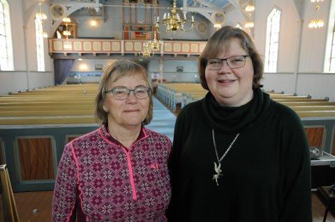 Trenger folk: Ragnhild Nysted og Hege Andresen i Blaker menighetsråd.