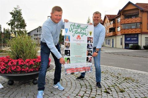 FESTIVALKLARE: – Vel møtt til den fjerde Stuttreist og Himlaga på Bjørkelangen 21. september, den største til nå, sier sentrale aktører i festivalkomiteen, Erik Bakke (t.h.) og Stian Sandbekkbråten.