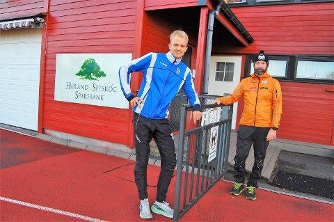 ÅPNER PORTEN FOR NYTT TILBUD: AHF og Aurskog-Høland Triatlon går sammen om et nytt felles treningstilbud for barn og unge i alderen 12 til 16 år. – Vi ønsker ungdommer fra hele bygda velkommen. Målet er å skape en treningsgruppe og et miljø for alle som liker å drive med kondisjonsidretter, sier daglig leder i AHF Even Oppegaard (t.v.) og leder av Aurskog-Høland triatlon, Ben Terje Moen.