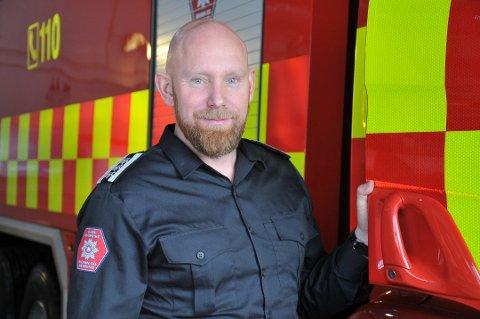 BEKYMRET: Konstituert brannsjef, Øvre Romerike brann og redning (ØRB), Anders Løberg.