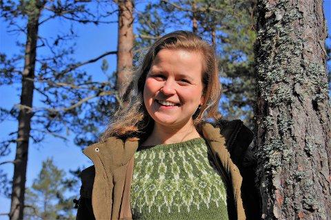 UNIK MULIGHET: – Jeg har fått en unik mulighet, sier den 27 år gamle nye skogsbestyreren for H.R. Astrups skogsforvaltning, Gunvor Grimeland Koller, med slektsrøttet fra Enebakkneset.