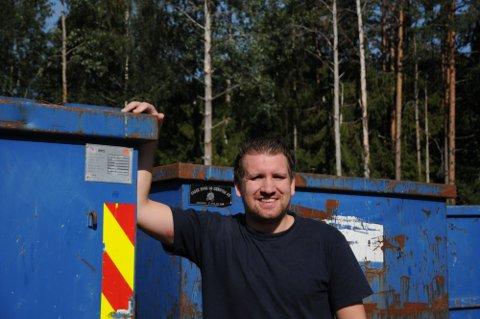 DRIVER GODT: Daglig leder Runar Nadden gleder seg over travle dager og gode resultater i familiebedriften Runes Containerservice AS.