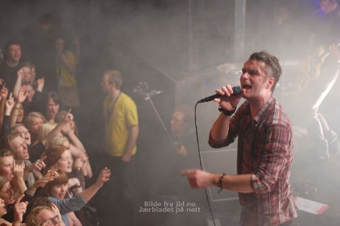 Fra konserten i Folken i Stavanger i februar, som var bandets første for å promotere det nye albumet «Violeta Violeta vol. 1».