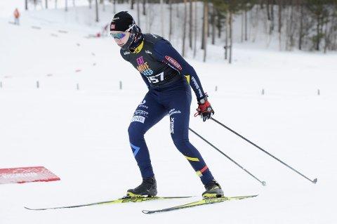 I FORM: Lars Håkonsen er i form og har ambisjoner i Hovedlandsrennet. 16-åringen har lyst på en finaleplass på sprinten. Foto: Svein Halvor Moe