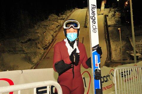 God når det gjaldt: Benjamin Pettersen (20) viste seg frem fra sin beste side under NM i hopp. Foto: Svein Halvor Moe
