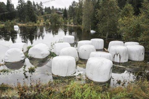 Ødelagt: «Traktoregg» med vinteròr er ødelagt av vannet.