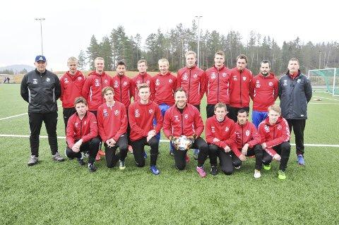 Går for opprykk: Drangedals 5. divisjonsmannskap 2016-sesongen.