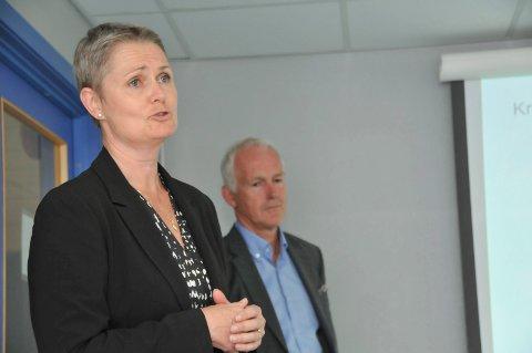 SLUTTER: Gitte Jensen Wegge har vært Vistin Pharma-direktør Kjell-Erik Nordbys høyre hånd ved to to fabrikkanleggene i Kragerø. (Arkivfoto: Per Eckholdt)