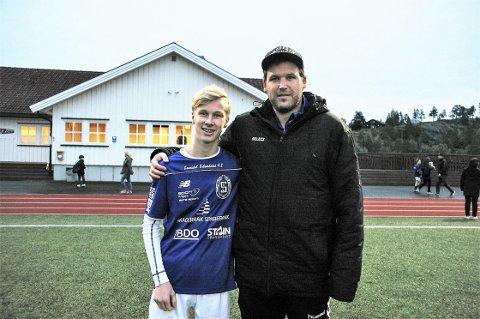 TALENT II: Mathias Lindtvedt Hop er en framgangsrik 17-åring på Sannidals lag. Han er teknisk god og har stor fotballforståelse. Trener Vegar Weholt venter seg mye av unggutten i årene framover.