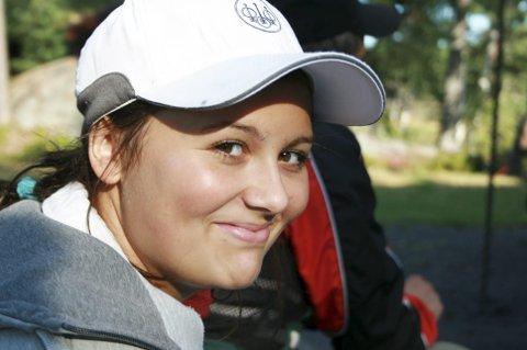 SATSER: Malin Farsjø er den  fremste lokale skeetskytteren.
