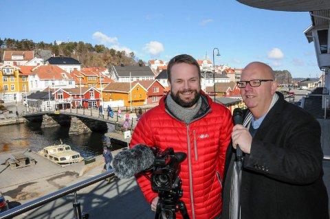 Trond Nøstvold Tou og Nico Jørgensen er klare for streaming av påskebadet.