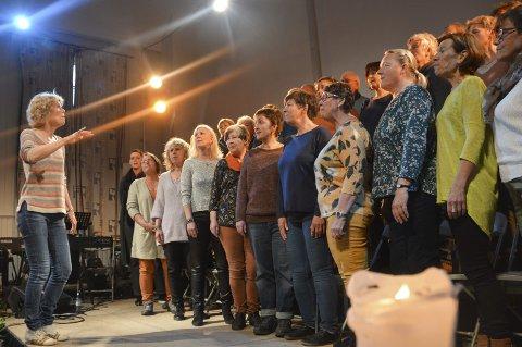 Klare: Mega er klare til å holde hyllestkonsert for dirigent i Oslo Gospel Choir, kragerømannen Tore Aas. Foto: Per Eckholdt
