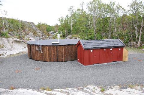 STOPP: Hit, men foreløpig ikke lenger har kommunalt vann og avløp kommet, ved Borkheller i Portørenga ligger det kommunale utjevningsanlegget som ble tatt i bruk i 2015.