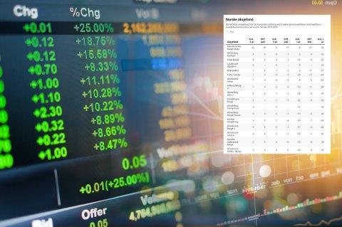 Har du valgt riktig aksjefond kan du ha tjent gode penger de siste årene. I tabellen nederst i saken kan du se de norske fondenes avkastning.