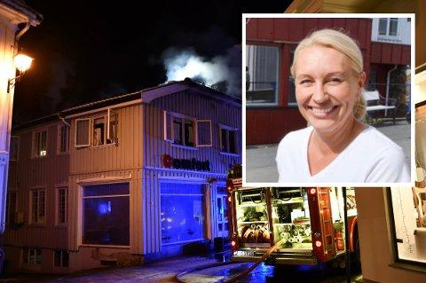 TRIST: Brannen i P.A. Heuchs gate 29 gikk naturligvis ut over butikklokalene til Comfort Hjallum. Medeier Ingrid Lindestad forteller at de åpner igjen så fort det lar seg gjøre.