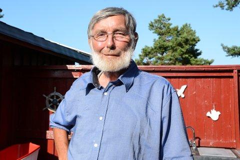 – Noe av det lureste jeg har gjort var å kjøpe denne hytta på Rapentangen, sier Johan Kaare Tenfjord.