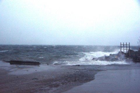 Kraftig vind stoppar hurtigbåtane i Sunnhordland. (Illustrasjonsbilde frå arkivet).